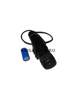 Лцу для ружья с установкой на планку вивера и приспособлением для корректировок